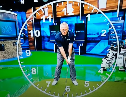 Martin Hall uses a Virtual Clock Face to Show You How to Stop Flipping Your Hands Before Impact